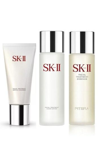 SK-II SK-II Beauty Set - Cleanser 120g, Clear Lotion 230ml, Essence 230ml (Free Pouch) 10146BEF097127GS_1