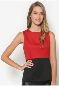 Collection Colour Blocked Peplum Top
