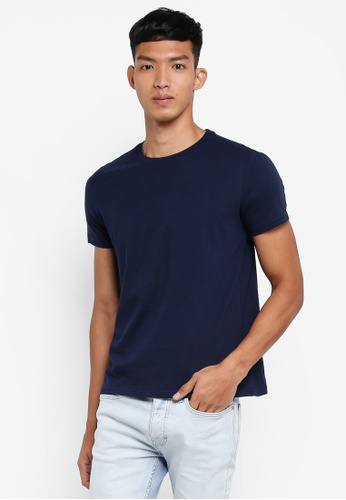 OVS black Basic Round-Neck T-Shirt 129A6AA00F01A5GS_1