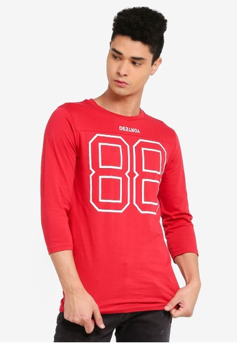 Cotton On red Tbar Baseball T-Shirt 332F7AAED2F36BGS_1