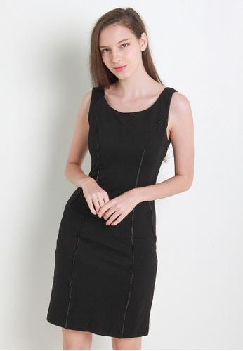 Leline Style black Welsa Dress LE802AA25ZMGSG_1