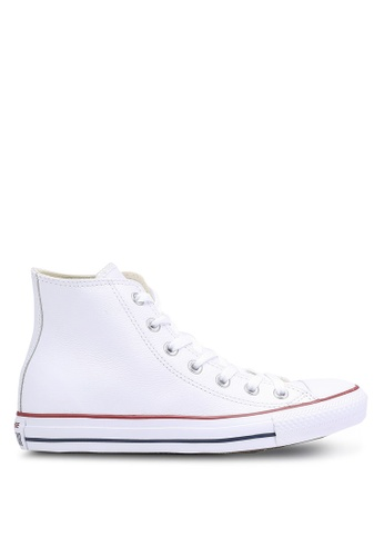 Converse white Chuck Taylor All Star Leather Core Hi Sneakers CO302SH35JSASG_1