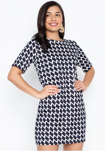 b976e021b4e3b7 Shop F.101 Plus Size Printed Dress Online on ZALORA Philippines