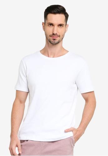 UniqTee white Solid Round Neck Cotton T-Shirt 5D0FBAA9EA4E4AGS_1