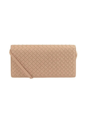 BOTTEGA VENETA beige Bottega Veneta Intrecciato Crossbody Bag in Beige 6ADE1AC6DC0CD0GS_1