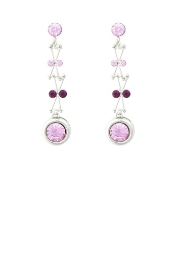Glamorousky purple Enchanting Earrings with Purple Austrian Element Crystal 02E85ACF4D8642GS_1