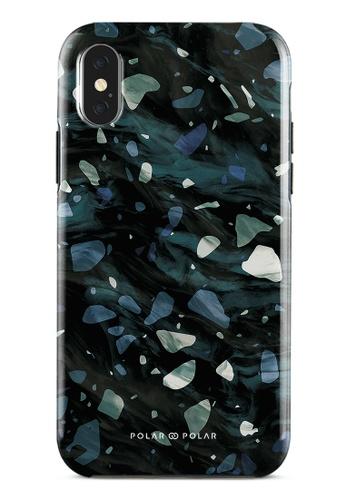 Polar Polar grey Nordic Terrazzo Gem Dual-Layer Tough Case Glossy For iPhone X / XS D3297AC83E5ADBGS_1