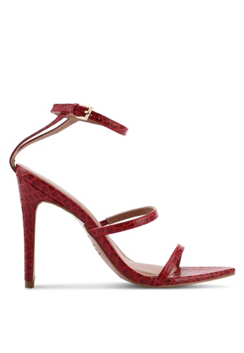 TOPSHOP red Solar Strappy Point Heels E202DSH78D0866GS_1