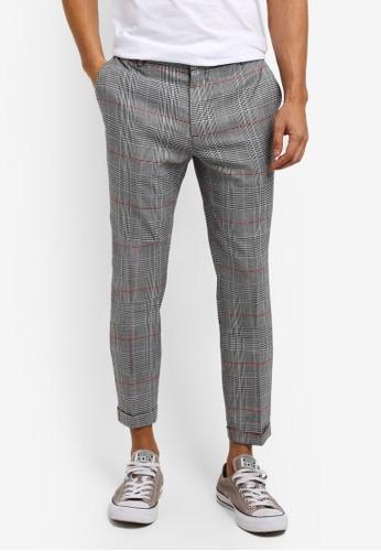 Topman multi Check Skinny Trousers 17D5BAA8294648GS_1