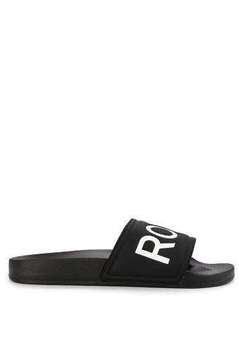 Roxy black Slippy II Sandals 011AESH3F2EE6DGS_1