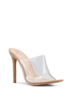 8b711cc7894 25% OFF MISSGUIDED Pointed Perspex Mules RM 189.00 NOW RM 141.90 Sizes 4 5  6 7
