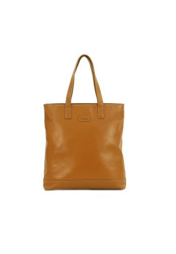 Kawamura brown Lotuff Shopper Tote Bag - Camel Brown KA871AC68ILZHK_1