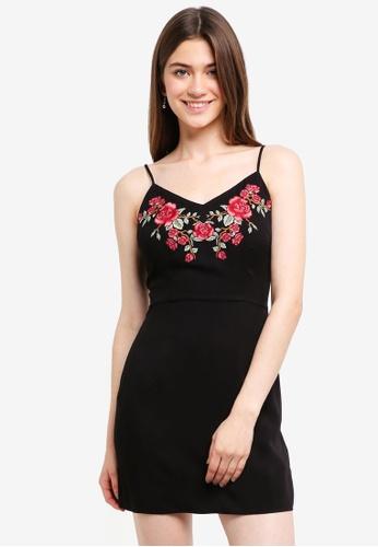 Something Borrowed black Embroidered Cami Dress BBF92AA43A786CGS_1
