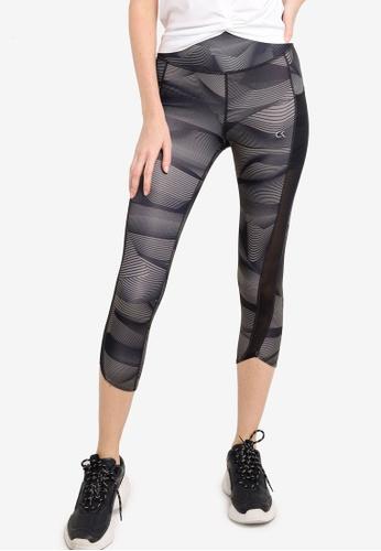 Calvin Klein black Linear Aop Crop Leggings - Calvin Klein Performance 787CEAA081500DGS_1