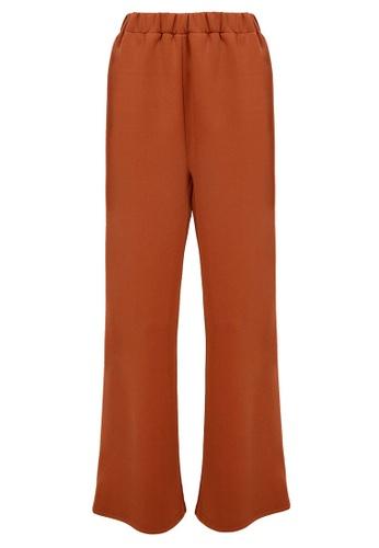 POPLOOK brown Shachi Wide Legged Pants E2FCEAAA1491DEGS_1