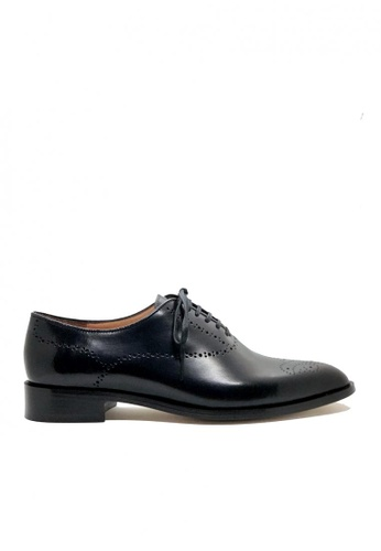 Bristol Shoes black Bourbon Whole-cut Leather Oxford 55DE2SH6D13F9EGS_1