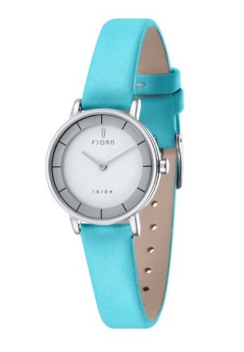 Fjord blue Fjord Women's Genuine Leather Watch - FJ-6038-05 66182ACEF79C9DGS_1