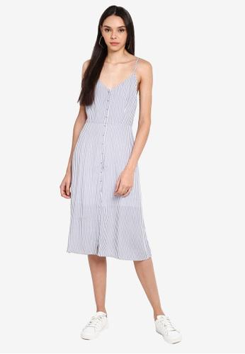 Button Thru Midi Dress
