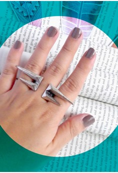 4-Point Ring, Silver