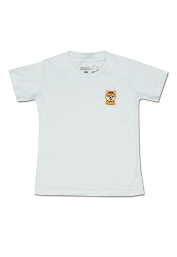 Pop Kidswear white Pop Kidswear Shiba White Adult tee ( Short Sleeves ) - Dog Squad Series A8AD8AA62DCCB2GS_1