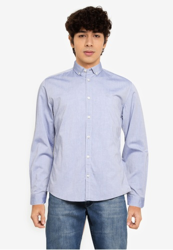 Springfield blue Pinpoint Shirt 51D26AAE89B3A0GS_1