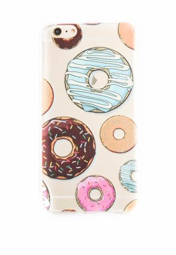 Fancy Cellphone Cases multi Donuts Soft Transparent Case for iPhone 6plus/6splus FA644AC52XMPPH_1