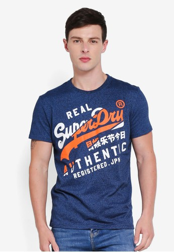 Superdry blue Vintage Authentic Tee C8345AAFE67E0CGS_1