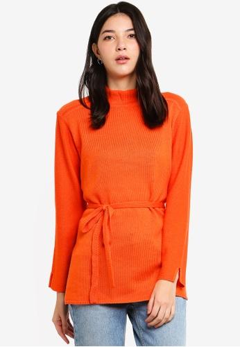ESPRIT 橘色 長袖上衣 0A732AA0599D3DGS_1
