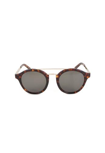 OBX multi OBX Rounded Brow-Bar Sunglasses 87B14GL898B8FBGS_1