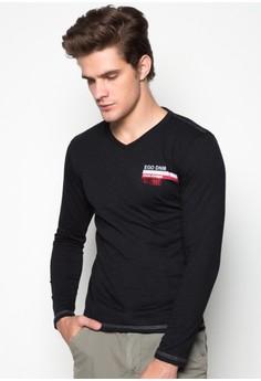 V-neck Long Sleeves T-shirt Slim Fit