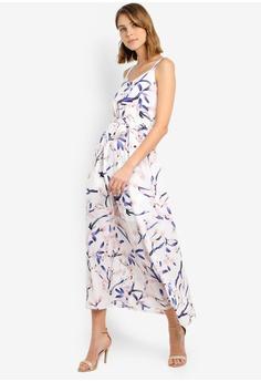 164926937 Mela London white Calm Print Maxi Dress F42B5AAE6491DBGS_1