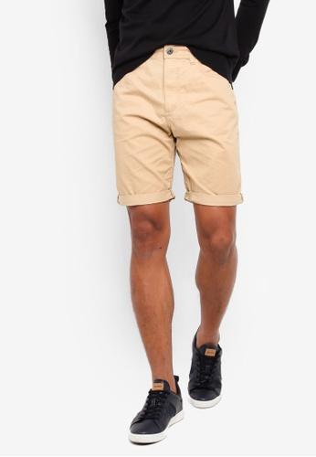 ESPRIT 米褐色 Basic 短褲 3F29CAAC64ACC3GS_1