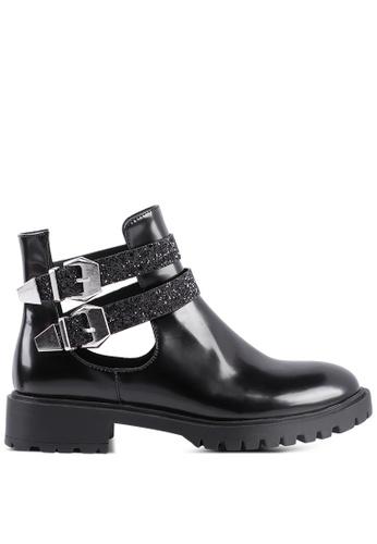 London Rag 黑色 可调扣带靴 851C1SH9411321GS_1
