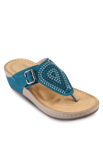 閃石夾腳楔形涼鞋, 女尖沙咀 esprit鞋, 鞋
