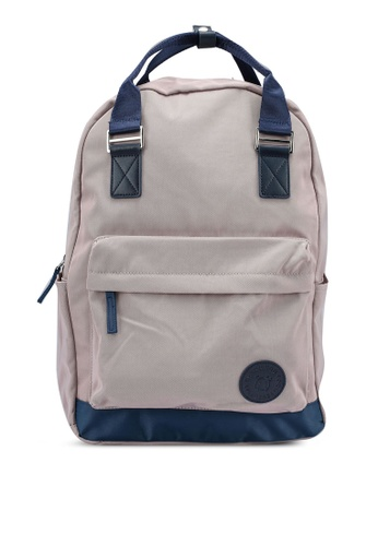 Bagstationz purple Colour Block Top Handle Backpack 57DCFACD29C8B5GS_1