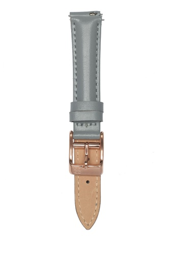 Ruby Lane grey Ruby Lane 16mm Leather Strap F36F5AC15337B8GS_1