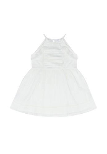 MANGO KIDS white Halter Neck Structured Dress C5900KAD9575D9GS_1