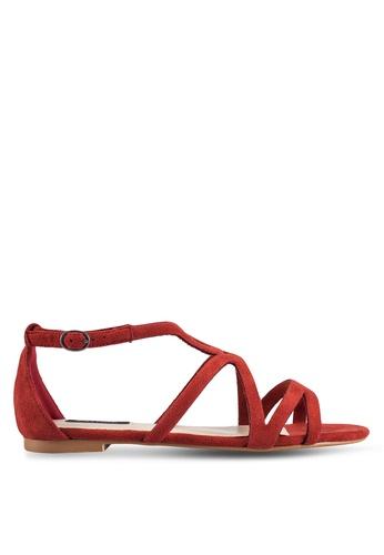 ZALORA red Cut Out Sandals D3D06SH62A2A82GS_1