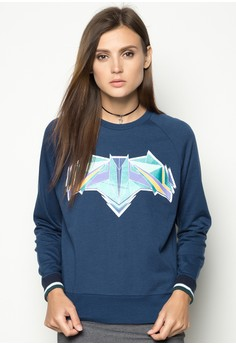 Raglan Sleeves Pullover with Print
