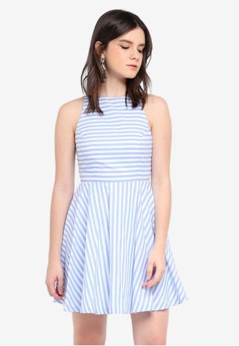 ZALORA blue Mini Swing Dress 74EA9AA2E5EAD1GS_1