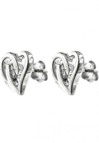 Silverworks silver Heart Stud Earrings SI696AC90JNDPH_1