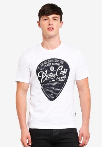 Sisley 白色 短袖圖案印花T恤 C5BD1AA243BF0CGS_1