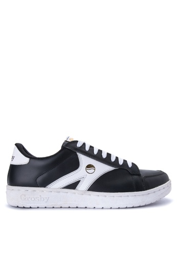Grosby black and white Hit2 Sneakers GR420SH0J084PH_1