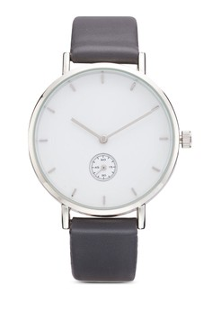 Classic Clean Round Face Strap Watch
