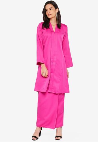 Nuraini pink Kebaya Pesak Riau Set 8AD81AA5F26B70GS_1