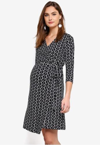 ed225038b06e7 Buy Seraphine Georgina Maternity Wrap Dress Online | ZALORA Malaysia