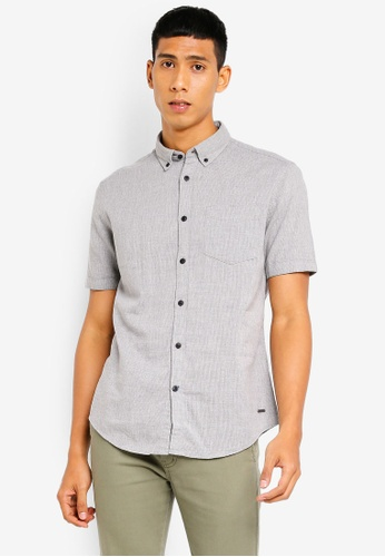 ESPRIT 灰色 短袖襯衫 0100AAAA939BDEGS_1