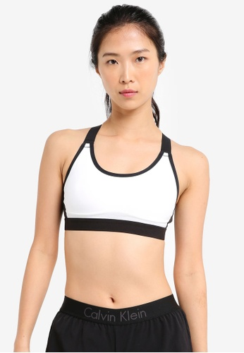 Calvin Klein white Crossback Two-Tone Bra With Padding - Calvin Klein Performance A3B28USCCAB49EGS_1