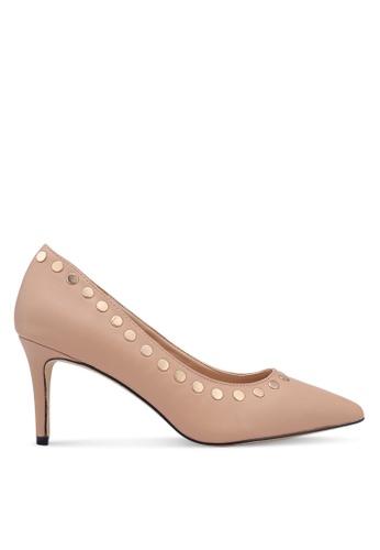 Nose 米褐色 鉚釘高跟鞋 06E13SHD9338A2GS_1