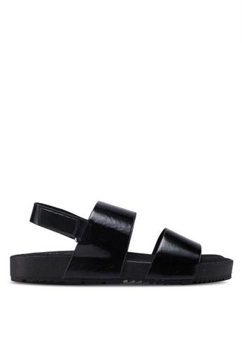 Rubi black Olivia Double Strap Slingback Sandals E7B26SHFC8A91BGS_1